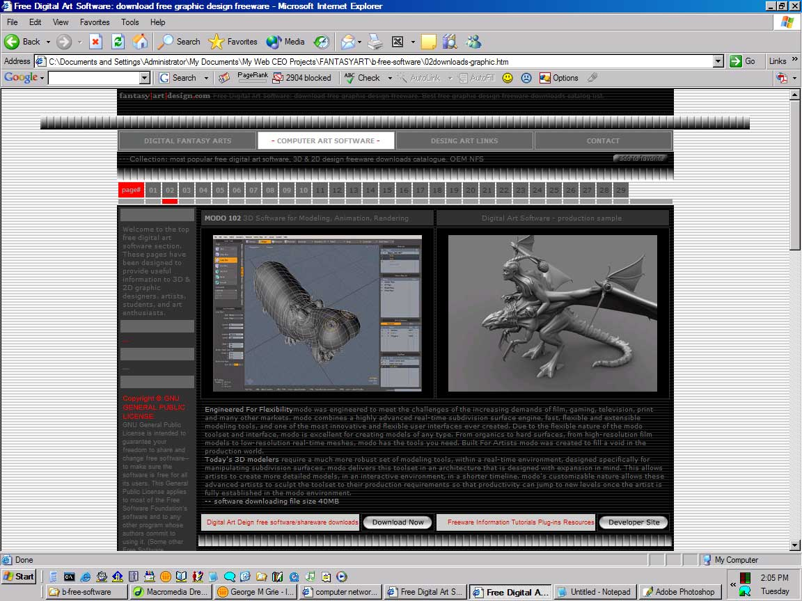... XP 2000 98 95 freeware online for computer digital graphic designing
