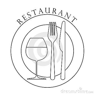 Restaurant logo design. Vector Art