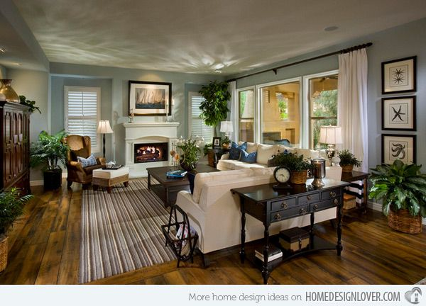 living room spaces | 15 Interesting Traditional Living Room Designs ...