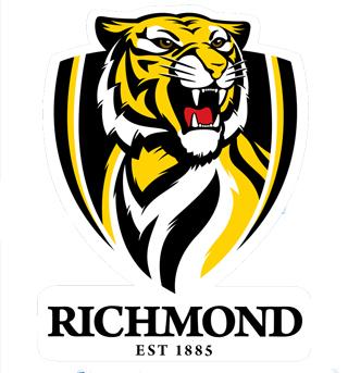 ... Tigers Large Static Team Logo Cling - Market Sports.com.au - AFL Shop