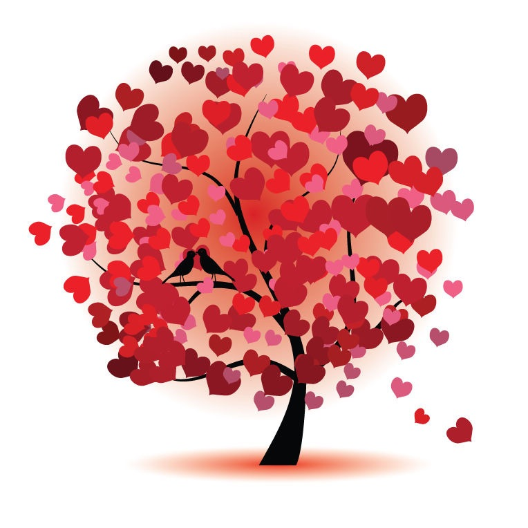 Name: Abstract Love Tree Vector Graphic