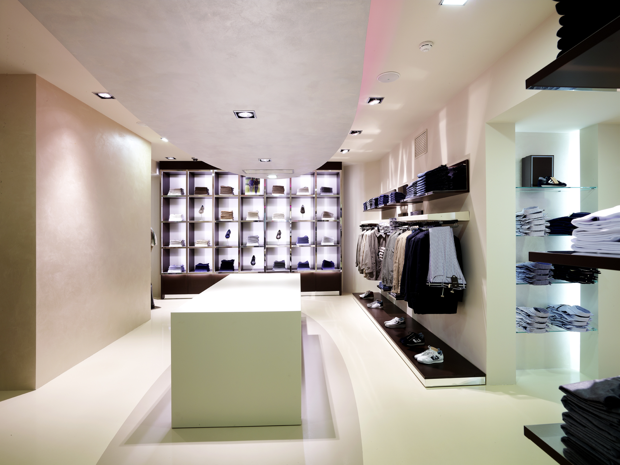Clothing Store Interior Design Includes Brand Identity Of The Store