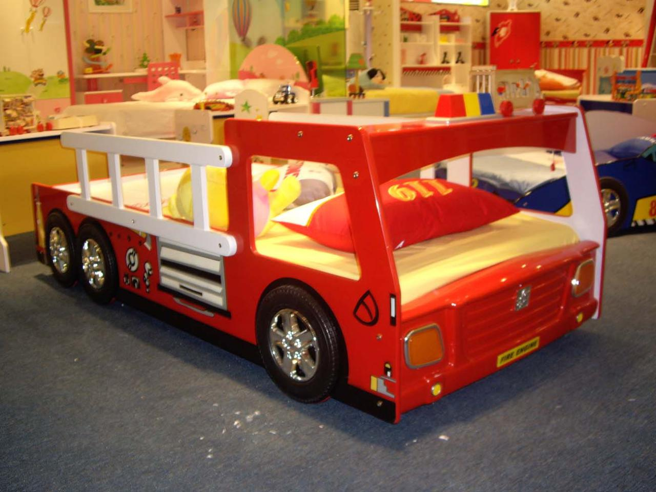 Cool Fire Cars Bedroom Decor Theme Ideas for Kids