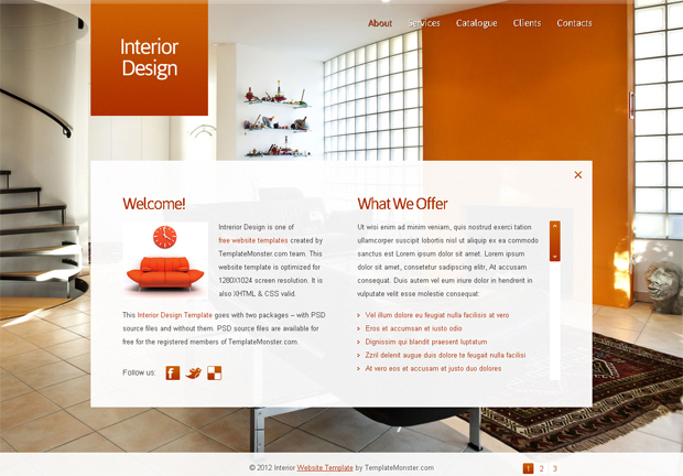 ... JavaScript-Animated Template for Interior Design Website - MonsterPost