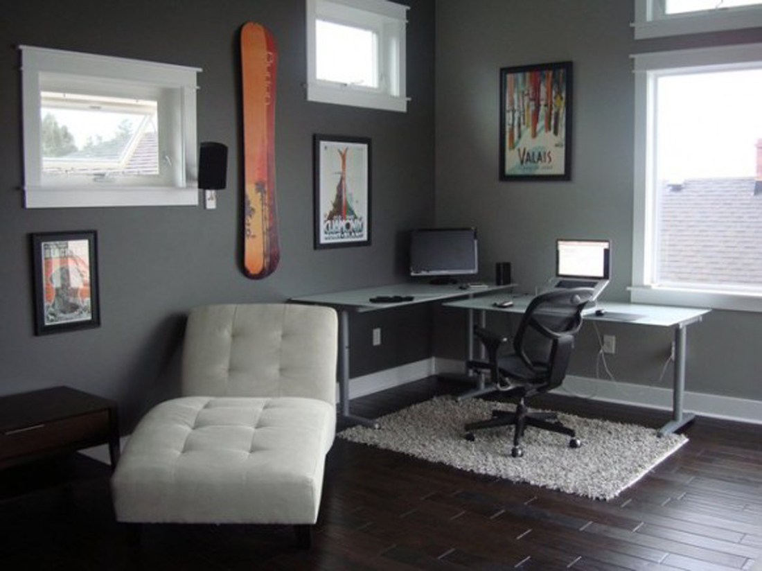 Functional office room interior design ideas elegant functional office ...