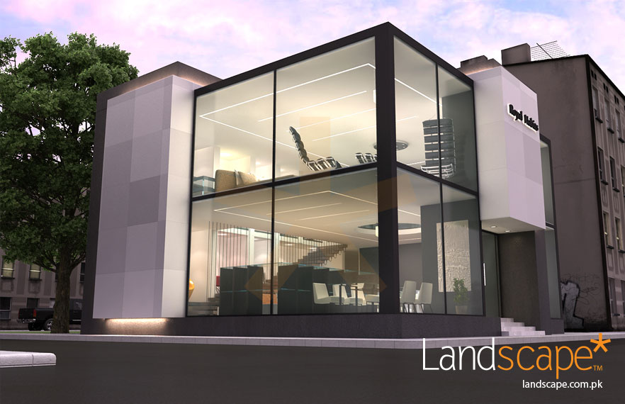 Front Facade Architecture Design of Furniture Showroom in Ghana