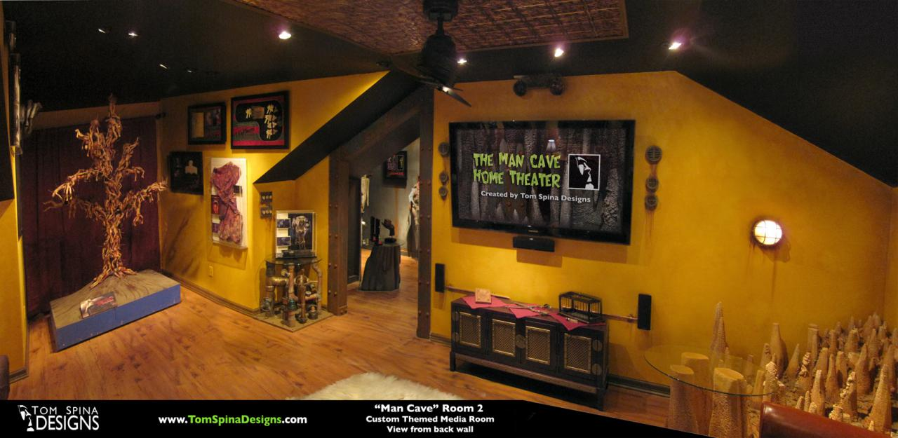 Cinema, Home Theater, Media Room and Movie Props Display Theme Room ...