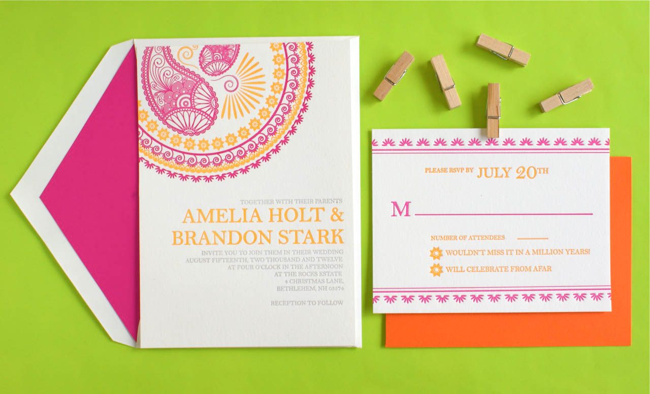 from Inkprint Letterpress sent over these gorgeous letterpress wedding ...