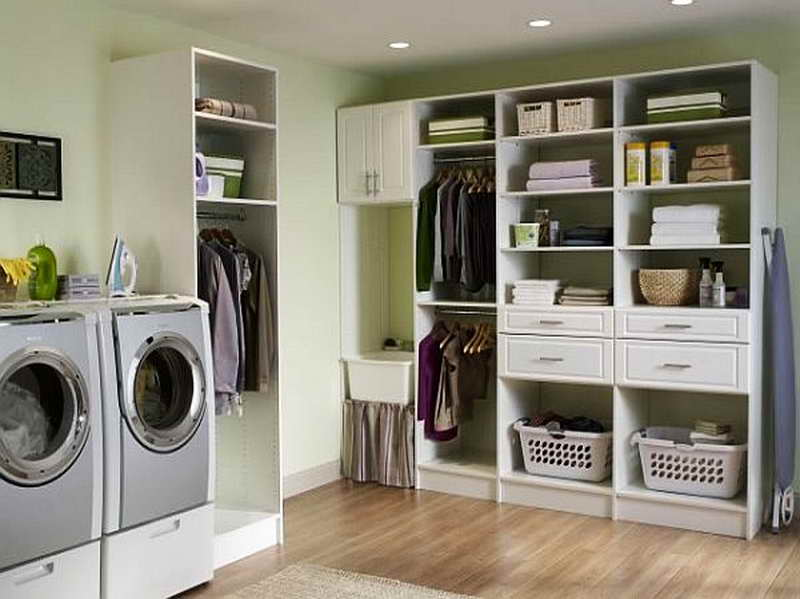 Laundry Room Storage Ideas: Laundry Room Storage Ideas With Wooden ...