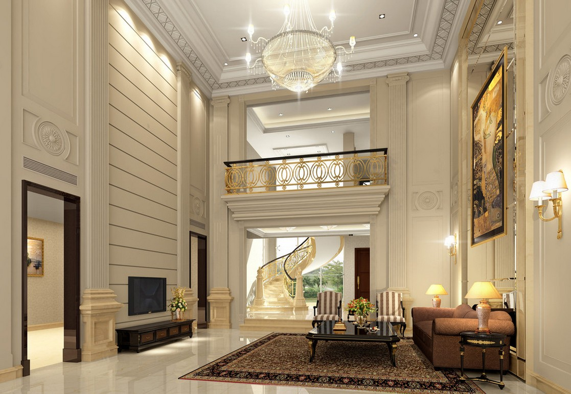 Luxury villa living room design layout image | 3D house, Free 3D house ...