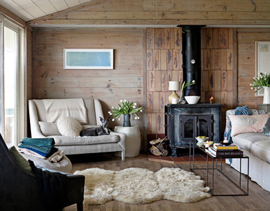 Modern Scandinavian Beach House Decorated With Washed Wood | DigsDigs