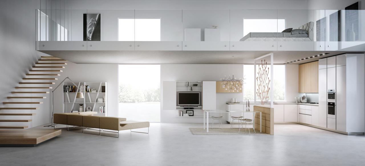 Modern-loft-layout-design : OLPOS Design