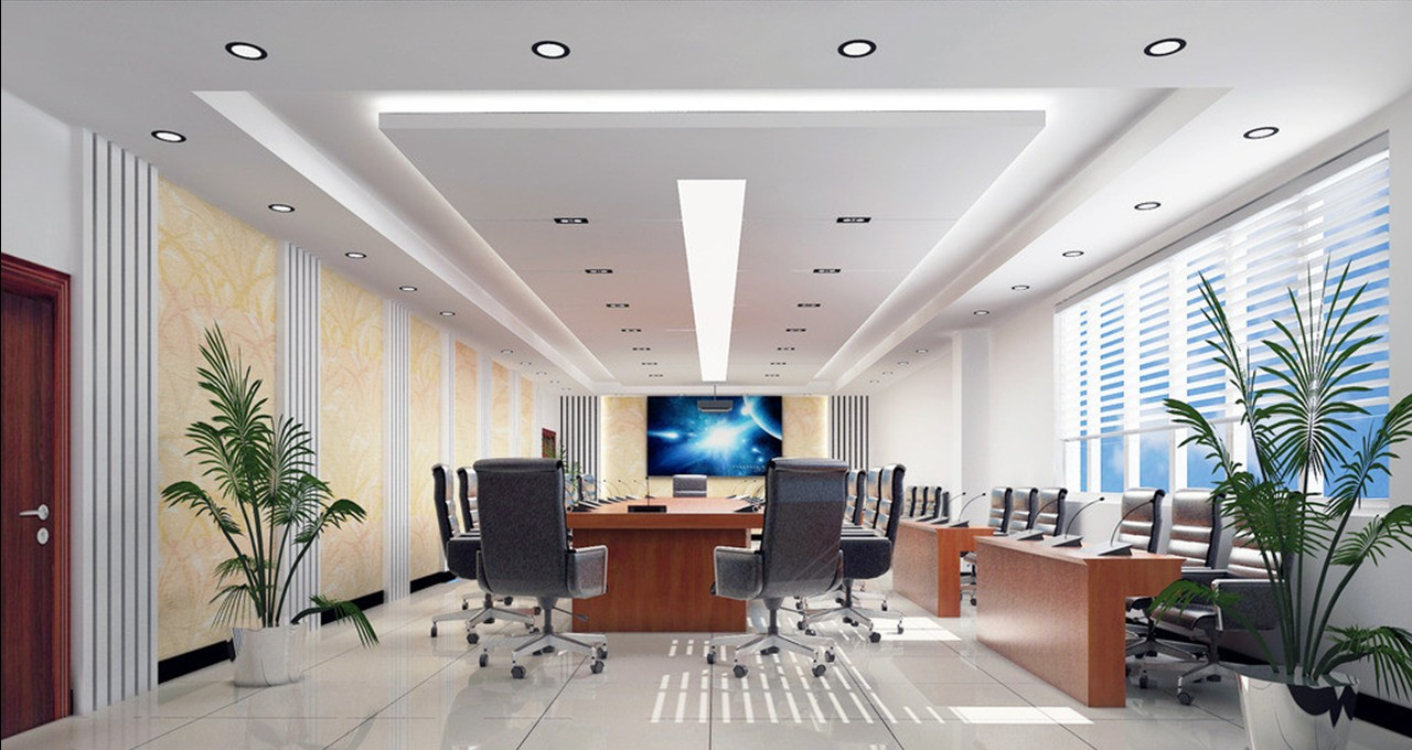 Stylish ceiling and wall design conference room | 3D house, Free 3D ...