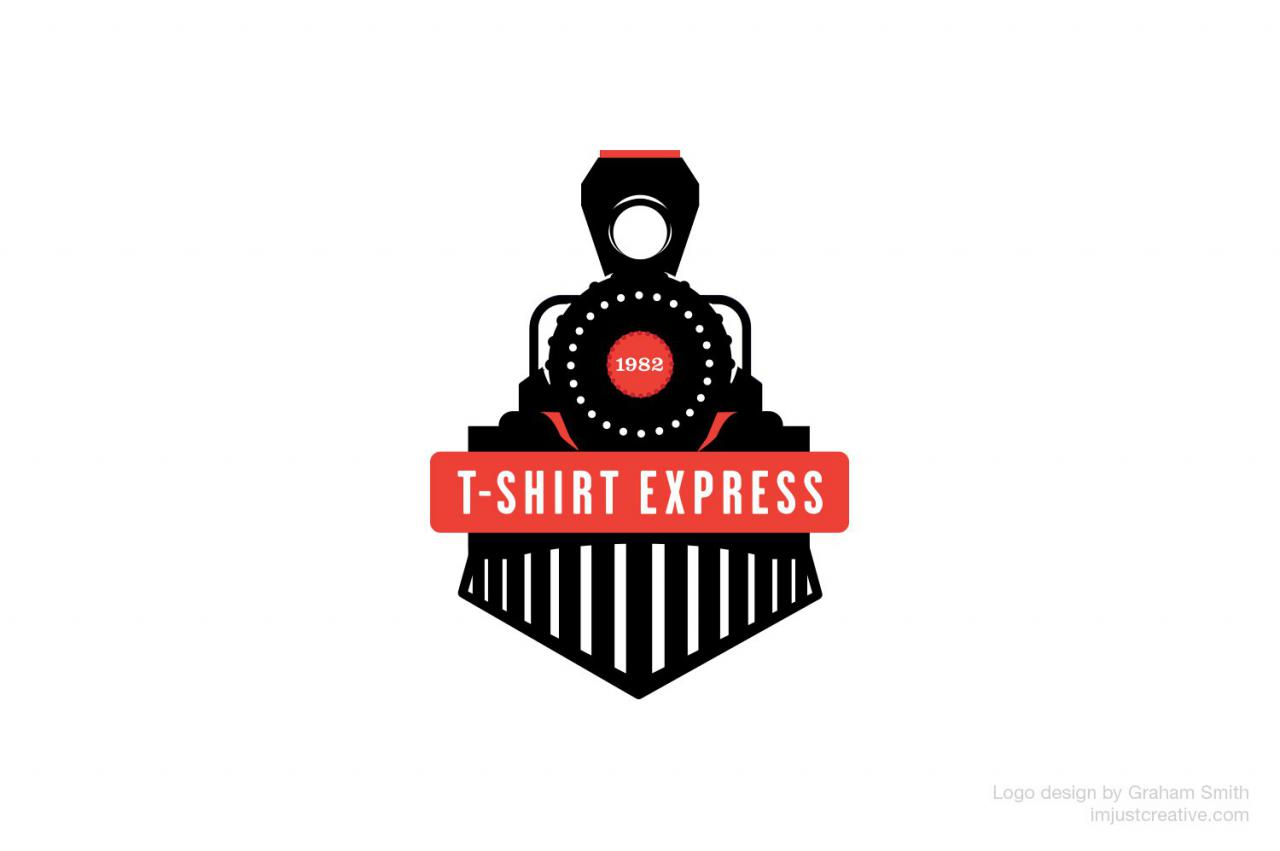 Shirt Express logo redesign for a US custom t-shirt screen printer ...