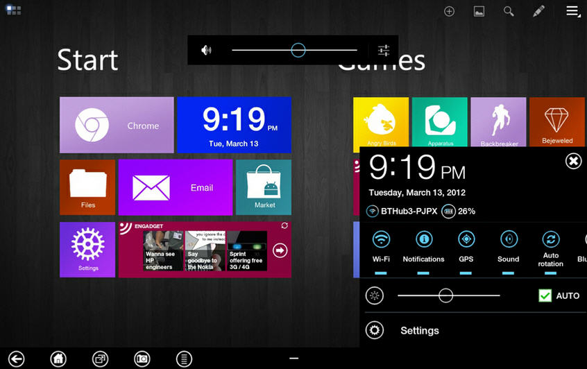 This is a Windows 8 Metro UI style theme for Android Devices. As per ...