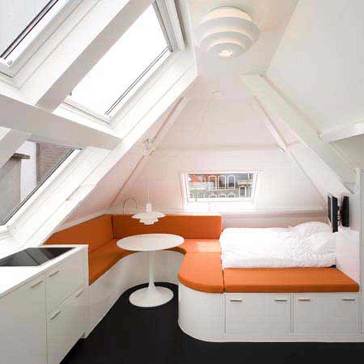 Attractive Loft Rooms Design Ideas Part - 6: Inspire Small Loft Apartment Zimagz U2013 Homivo