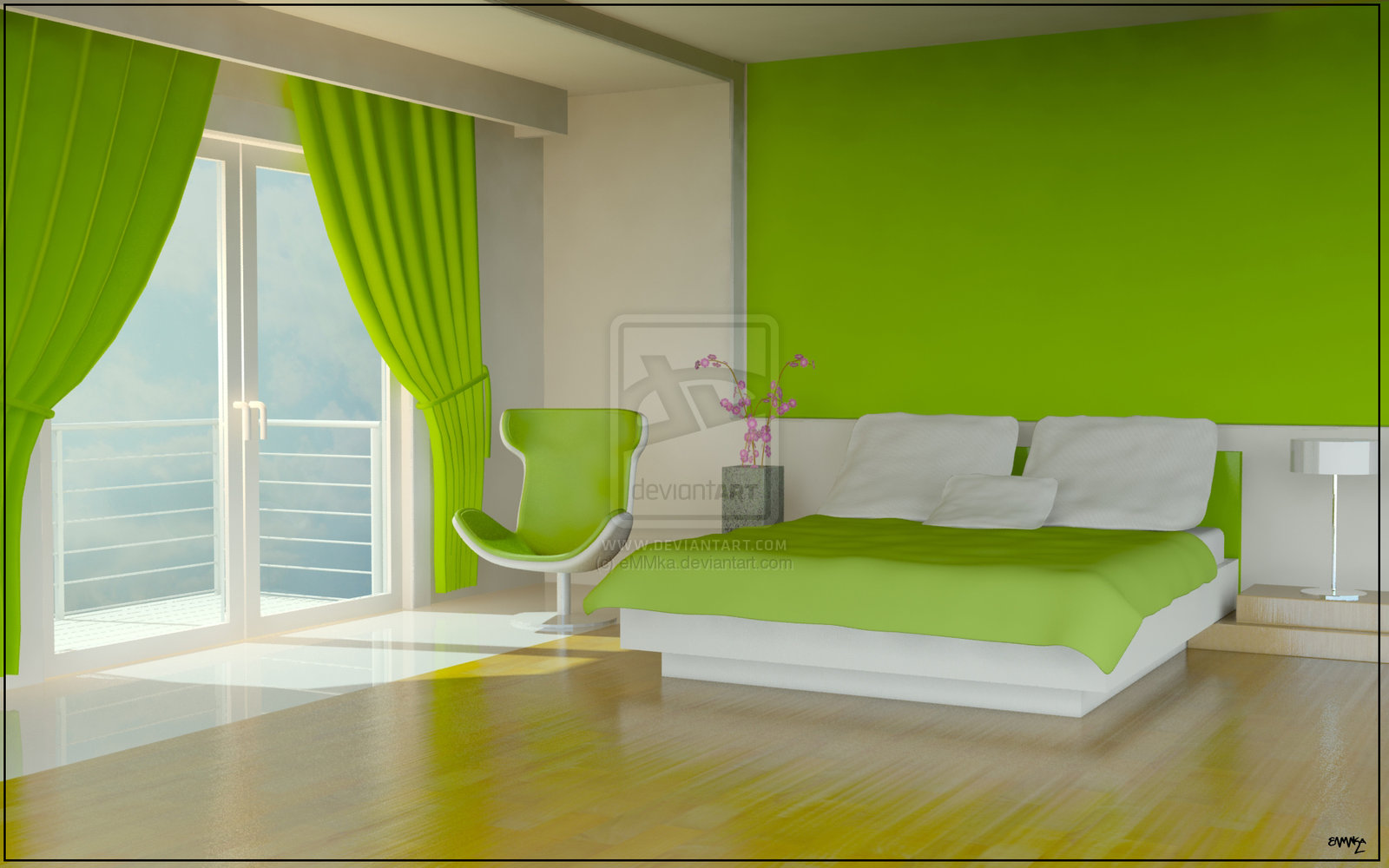 bedroom ideas with unique color patern interior design