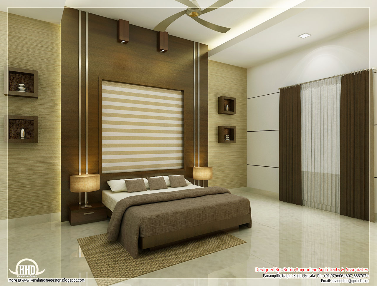 Beautiful bedroom interior designs | Kerala House Design