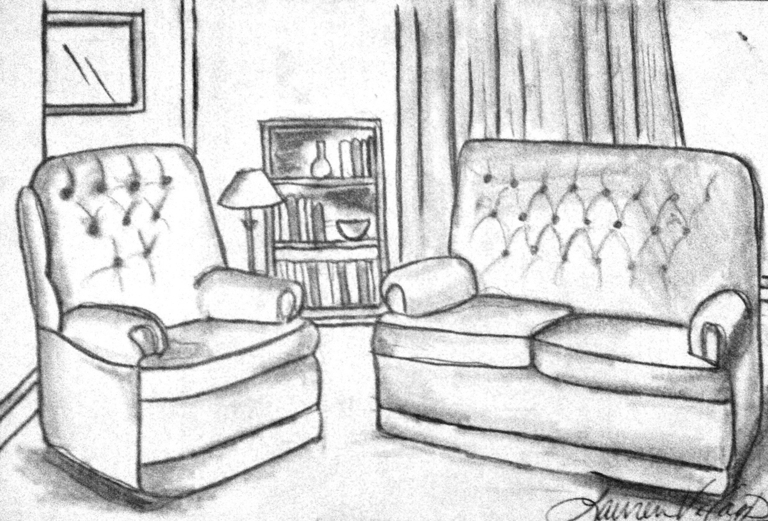 ... Draw Download Sample Of Free 3d Room Living Room Sketches ~ decozt.com