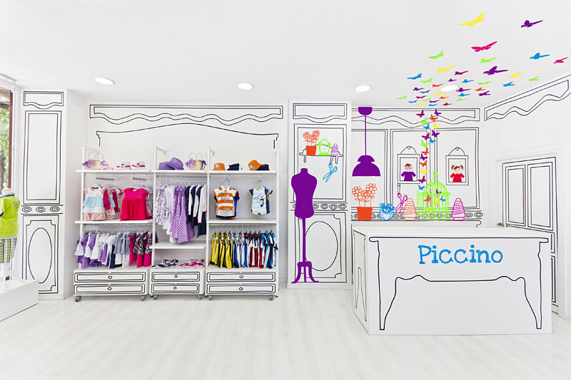 ... clothing store interior design includes brand identity of the store