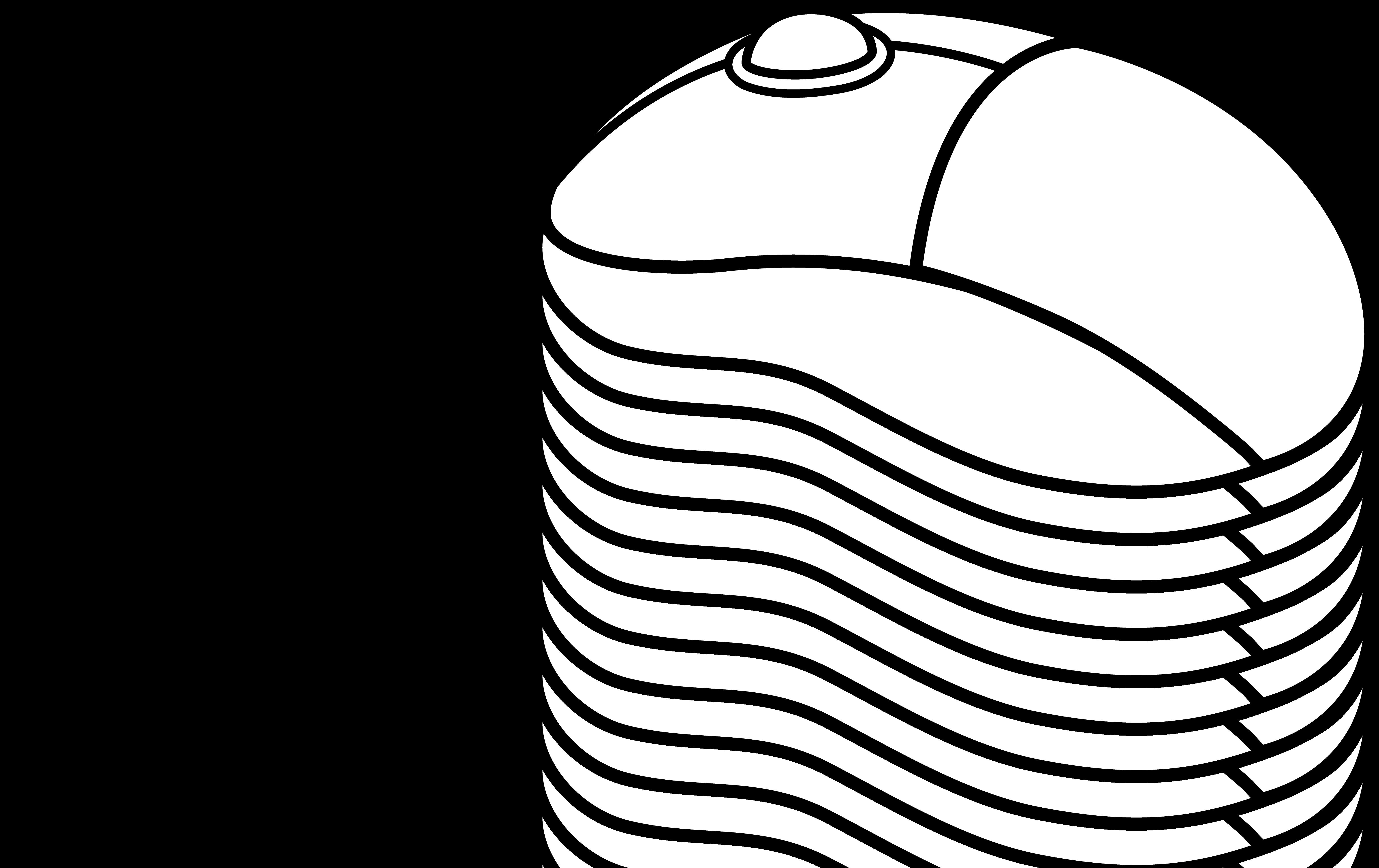 Computer Mouse Line Art - Free Clip Art