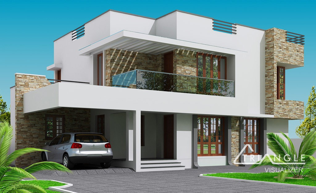 Attirant Modern Kerala Home Design At 2300 Sq.ft