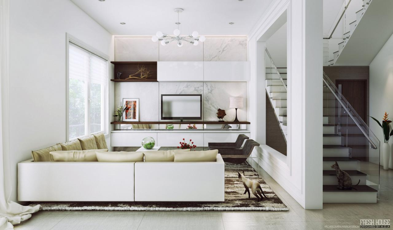 contemporary-white-living-room-sofa-design : OLPOS Design