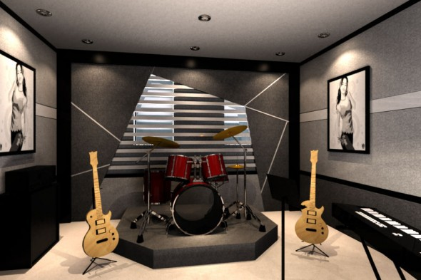 Cool Small Ideas : Cool Small Minimalist Of Home Music Studio Ideas ...