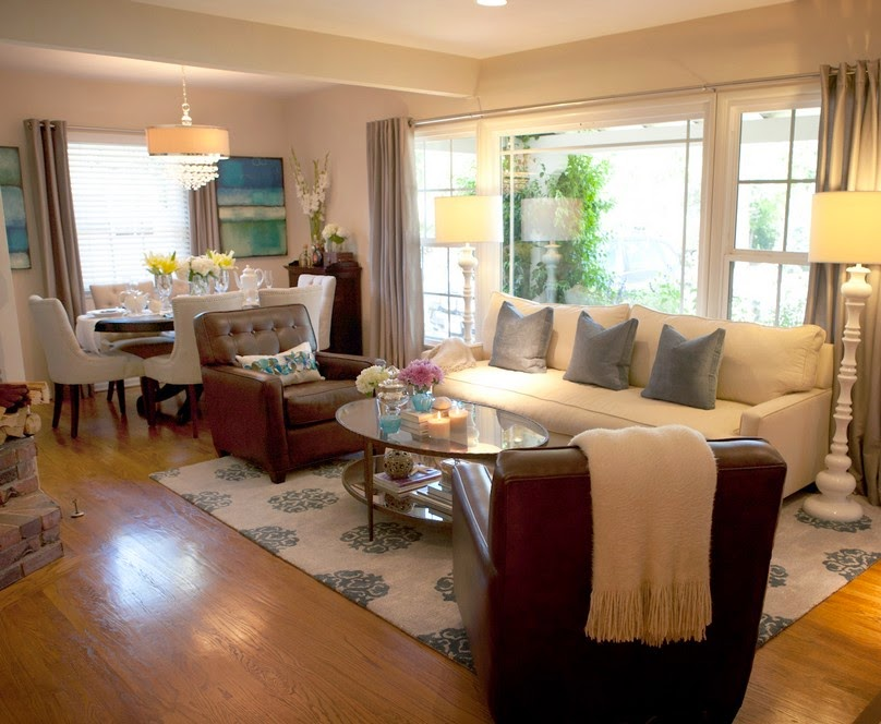 Design ideas for living room and dining room combo