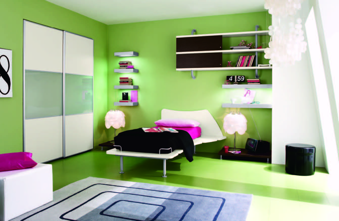 Bedroom: Fantastic Stunning Green Bedroom Interior Design Ideas