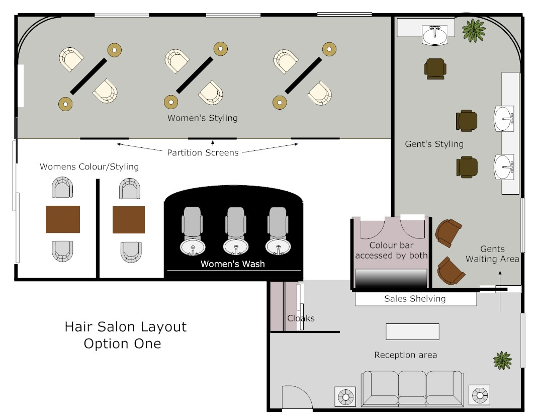 Hair salon layout option 1
