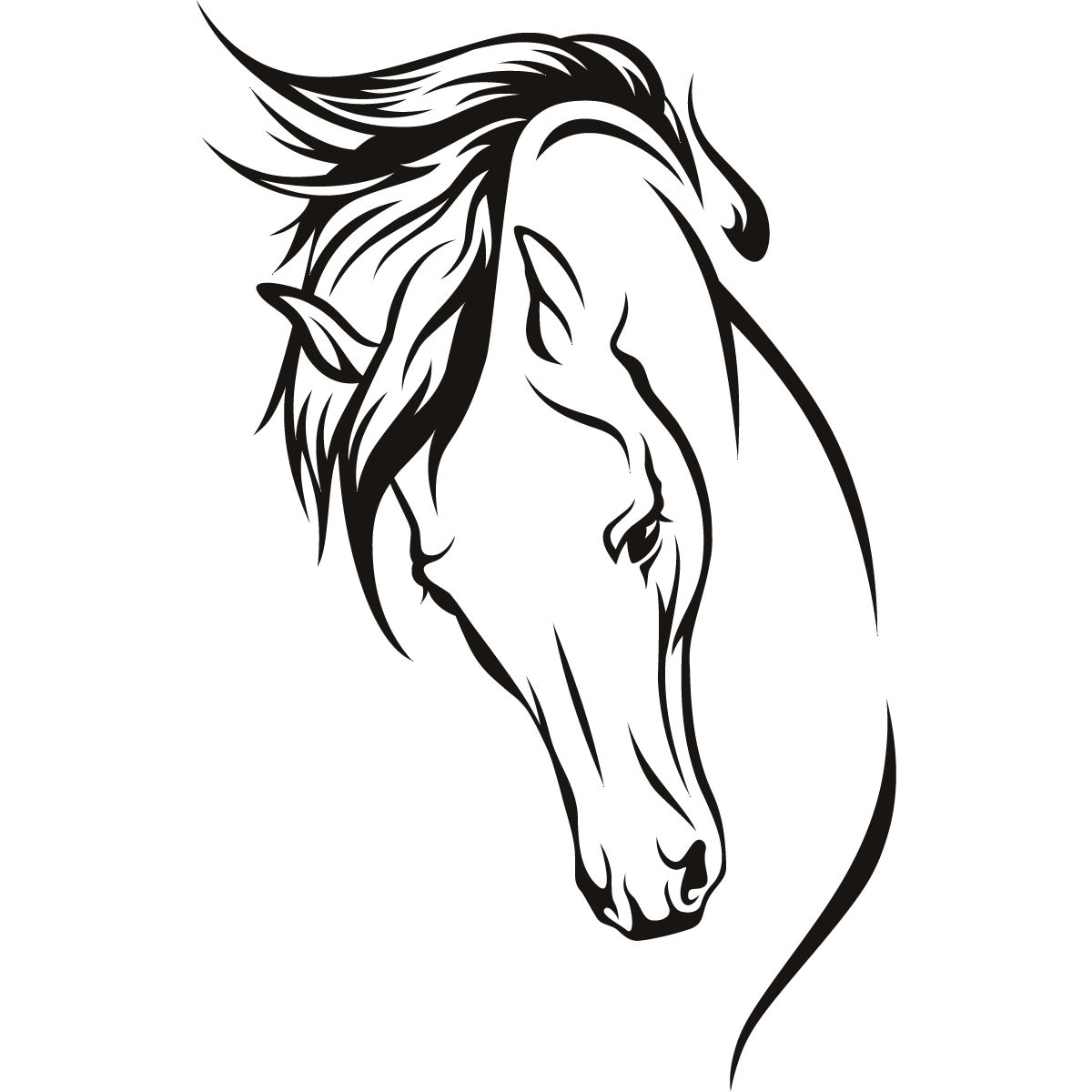 Horses Head Wall Art Stickers Wall Decal Transfers | eBay