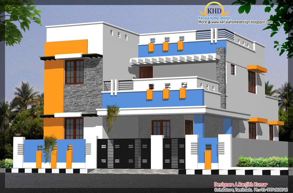 ... House Elevations over 2500 Sq. Ft - Kerala home design and floor plans