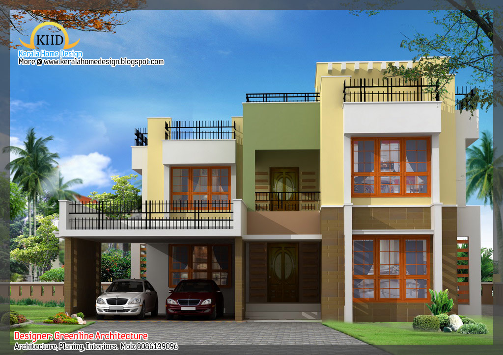 Awesome House Elevation Designs   Kerala Home Design And Floor Plans U2026