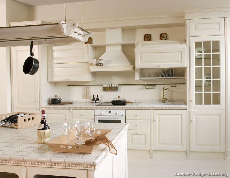 ... of Kitchens - Traditional - White Kitchen Cabinets (Kitchen #135