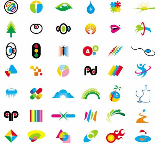 logo designs vector collection of 2 sets with different vector logo ...