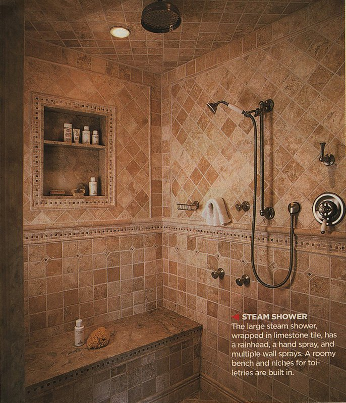 Our Master Bathroom & Spa Shower Plans   Fun Times Guide to Log Homes
