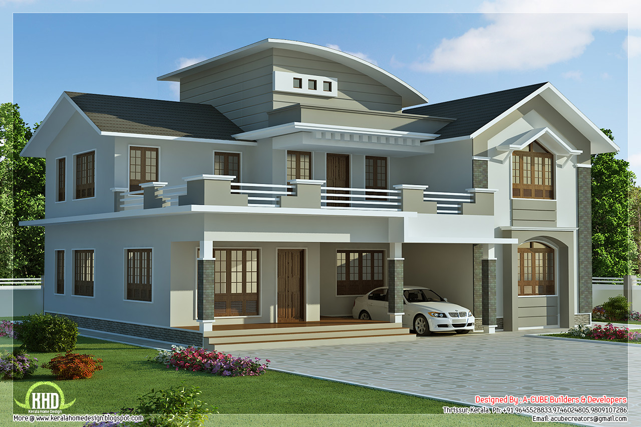 ... sq.feet 4 bedroom villa design - Kerala home design and floor plans