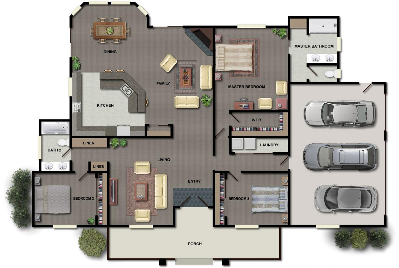 Not So Big House Plans As Well As Modern Houses Which Perfect For Your ...