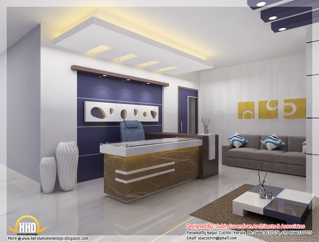 Beautiful 3D interior office designs - Kerala home design and floor ...