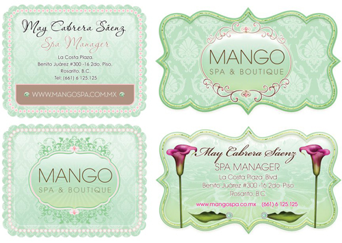 Spa Card Designs