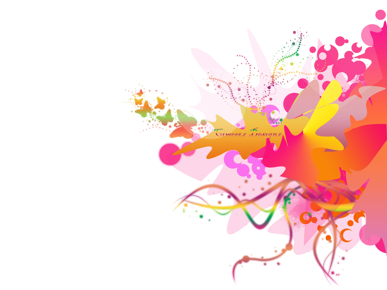 Bloomy Design Colorful Power Point Backgrounds, Sprinkle Bloomy Design ...