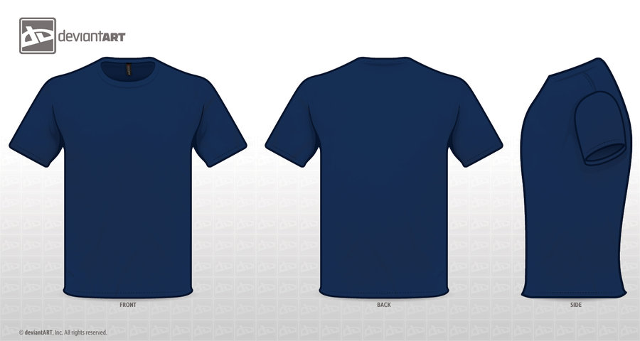 shirt BLUE TEMPLATE. by zombieabstract on DeviantArt