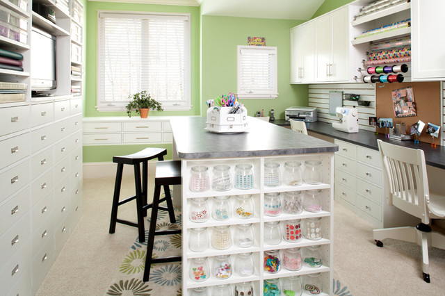 Craft Room - Traditional - Home Office - philadelphia - by Closet ...