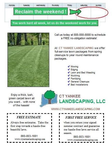 Spring lawn care postcard and flyer design ideas. | Lawn Care Business ...